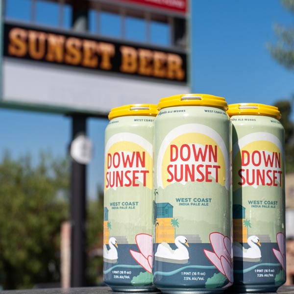 4-pack of Down Sunset beer